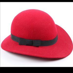 Vintage Red Virgin Wool Hat